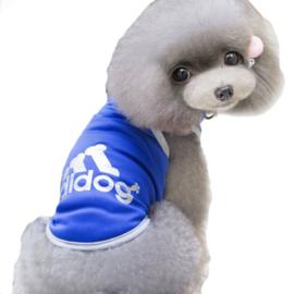Mouwloos hondenshirt | blauw | XL