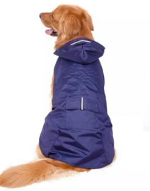 Honden regenjas blauw | L,  XXL, 3XL, 4XL
