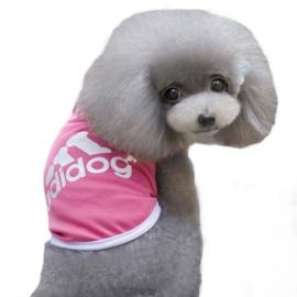 Mouwloos hondenshirt | roze |   L, XL
