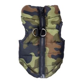 Camouflage bodywarmer | groen |  S,  M, L, XL