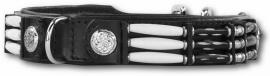 DOXTASY leren halsband Black Eagle   zwart 25mm