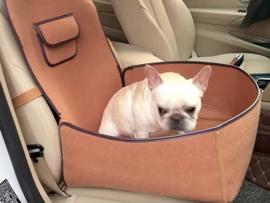 Honden autostoel Doglemi cognac| 45x45x60cm