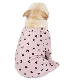 Honden Pyjama / Onesie roze   S, M, L, XL, XXL