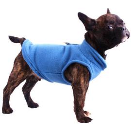 Mouwloze hondentrui, fleece | blauw |  S, M, L