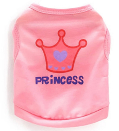 "hondenshirtje ""Princess"" lichtroze  | M, L"