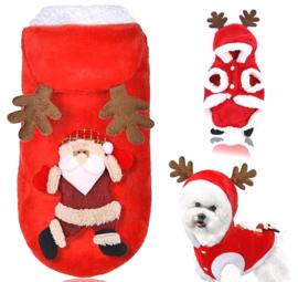 kerstkleding hond / vestje | XS, S