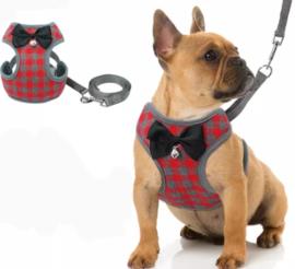 Honden tuigje / puppy tuigje met looplijn | S, M, L