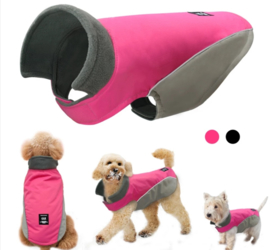 Regenjas hond / hondenjas   Roze grijs    S, XXL