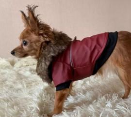 DIDOG lederlook hondenjas rood | S, M, L, XL, XXL