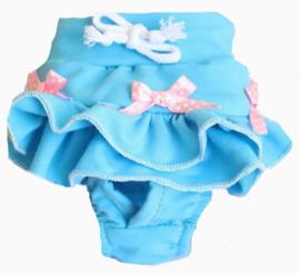 Aansnoerbaar loopsheidbroekje LENORA blauw | S