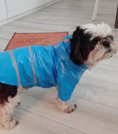 Regenjas hond blauw |S, M, L, XL