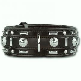 DOXTASY brede leren halsband Glorious | Zwart