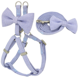 "Puppytuigje ""Baby Blue Bow"" 