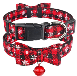 Hondenhalsband kerst | rood | XS/S