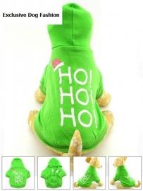 HOHOHO kerst Hoodie   Groen    XS