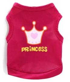 "hondenshirtje ""Princess"" donkerroze  |  M, L"
