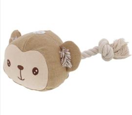 Hondenspeelgoed beer met touw en piepgeluid