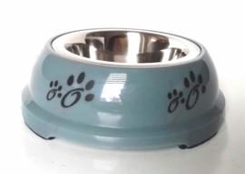 Honden voerbak DAZZLE anti slip | Petrol blauw 14cm