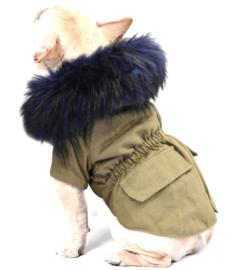 LOULOU hondenjas khaki   S, M, L