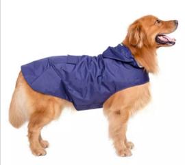 Honden regenjas blauw | L,  XXL, 4XL