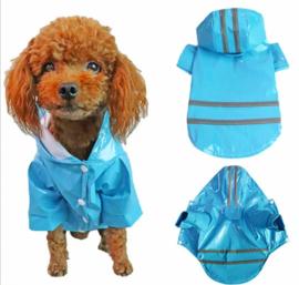 Regenjas hond blauw  S, M, L, XL