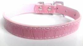 Hondenhalsband met strass en hanger | roze