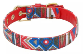 Honden halsband Indian style | Rood