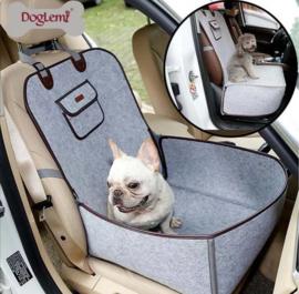 Honden autostoel Doglemi grijs| 45x45x60cm