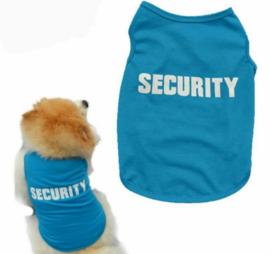 Hondenshirt SECURITY | blauw | S, M
