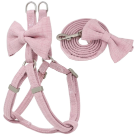 "Puppytuigje ""Baby Pink Bow"" 