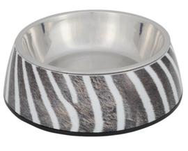 Hondenvoerbak zebra print | 17cm
