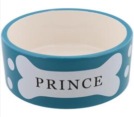 "Hondenvoerbak ""Prince"" | Petrol | 16cm"