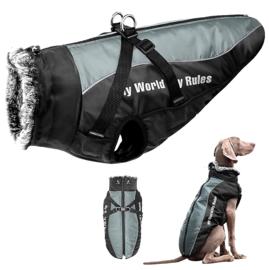Regenjas voor grote hond | zwart/antraciet | 4XL, 5XL
