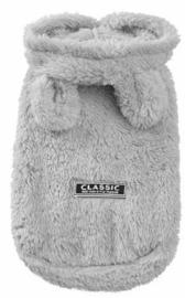 CLASSIC Honden vest teddy fleece | grijs | L