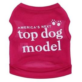 honden shirt Top dog model | roze |  S, M, L