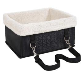 TAILLUP Honden autostoel SOIGNE met bont | 34x29x18cm