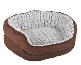 Hondenmand stone | bruin/grijs | 55cm