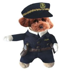 Honden kostuum politie    M, L