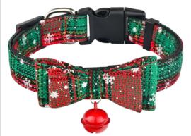 Hondenhalsband kerst |groen / rood | XS/S