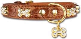 PETTARAZZI halsband Glitterbones | bruin |