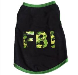 Hondenshirt FBI zwart/groen | XS, L