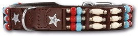 DOXTASY leren halsband Cheyenne Star In The Sky  25mm
