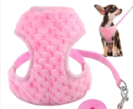 Hondentuigje / harnas met looplijn | roze