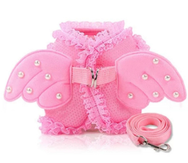 "Hondentuigje ""Angel Wings"" roze 