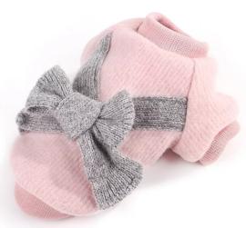 Roze hondentrui met strik | S, L, XL
