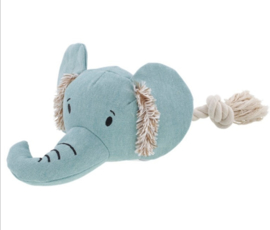 Hondenspeelgoed olifant met touw en piepgeluid