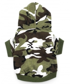 Camouflage hoodie | groen | XS, S, L