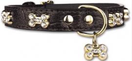 PETTARAZZI halsband Glitterbones | zwart |