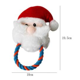 Kerstman hondenspeelgoed met pieper