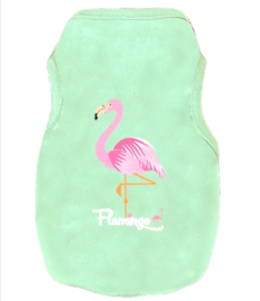 Hondenshirt Flamingo | groen | S,  L, XL, XXL